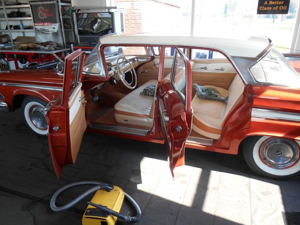 Edsel ranger 1959 4d sedan van aankoop tot keuring klaar for Interieur auto schoonmaken